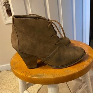 MIA Faux Suede Booties
